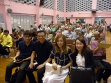 <h5>創會榮譽會長陳裕丰教授 (左二) 、理事長鄧名殷小姐 (右二) 及秘書長張可仁小姐 (右)</h5>